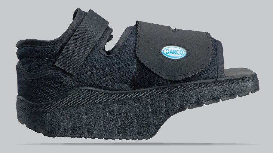 8c1bf30e886 DARCO OrthoWedge surgical post-op shoe This is the exact shoe I had to wear  over the cast that was on my foot. It prevents your foot from bending while  ...