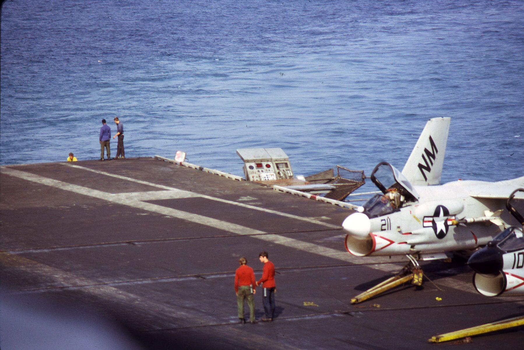 USS Oriskany CVA34 the fall of 1971 off the coast of Vietnam