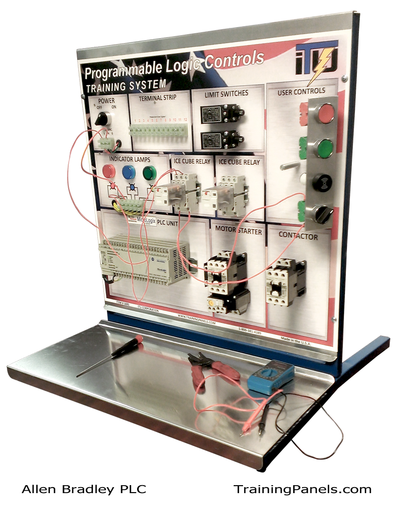 hight resolution of allen bradley plc training system students will spend time learning how the allen bradley micrologix plc or programmable logic controller is connected in