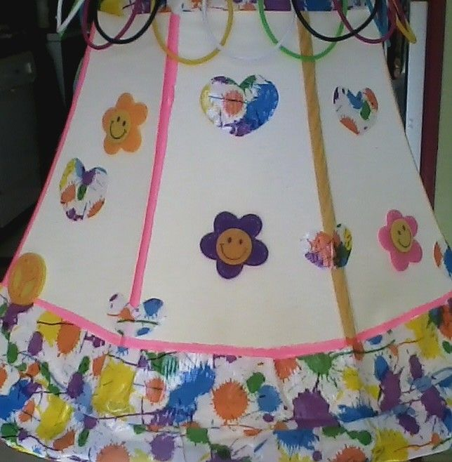 took am old lamp and made it pretty for two little girls,, very easy and fun