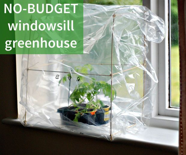 Captivating Make Your Own Super Cheap Windowsill Greenhouse | The DIY Life