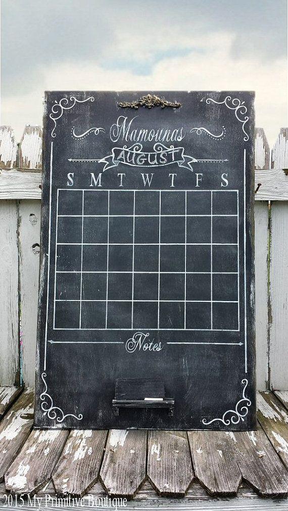 Perfect LARGE Wooden CHALK BOARD Calendar Chalk Art By MyPrimitiveBoutique