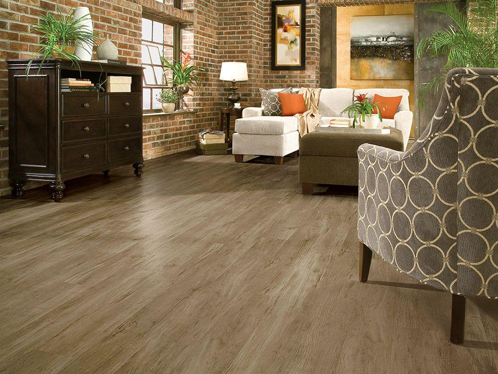 Luxury Vinyl Plank Flooring LVP Warm Gray Wood Look