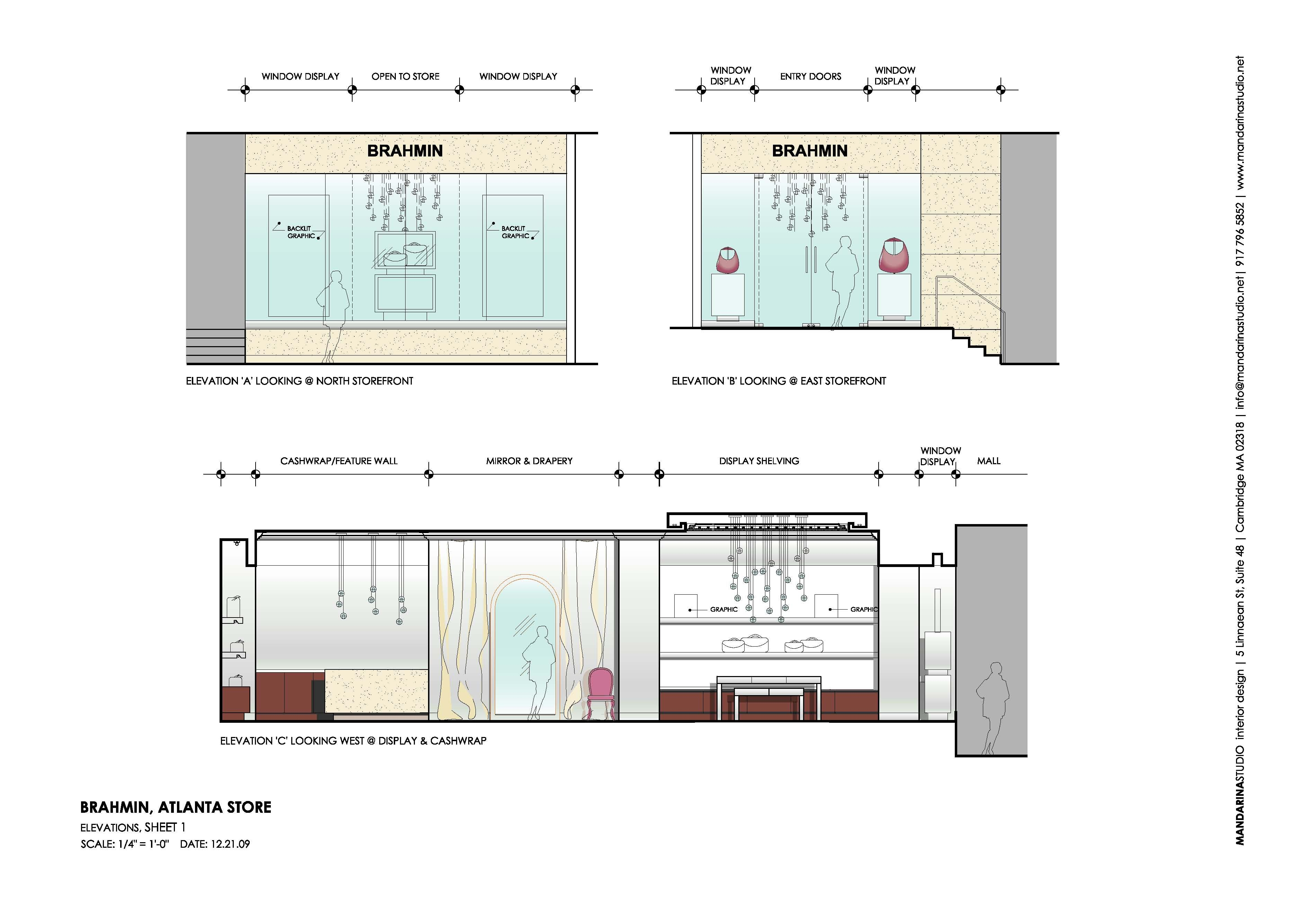 BRAHMIN Atlanta Design Elevations Sheet 1