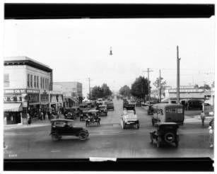 View Of Western Avenue At Vernon Avenue Ca 1924 California Historical Society Collection 1860 California History Inglewood Los Angeles Historical Society