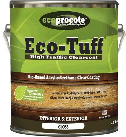 Eco Tuff High Traffic Clearcoat Available In Matte Or Gloss Sheen A Zero Voc Low Odor Bio Based Acrylic Urethane Coating Clear Coat Acrylic Emulsion Clear