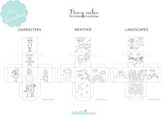 Printable Story Cubes Story Dice Creative Paper Play Children