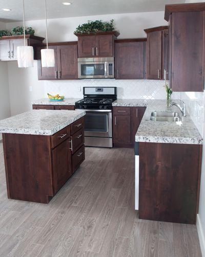 Best Image Result For Cherry Cabinets Grey Floor Kitchen 400 x 300