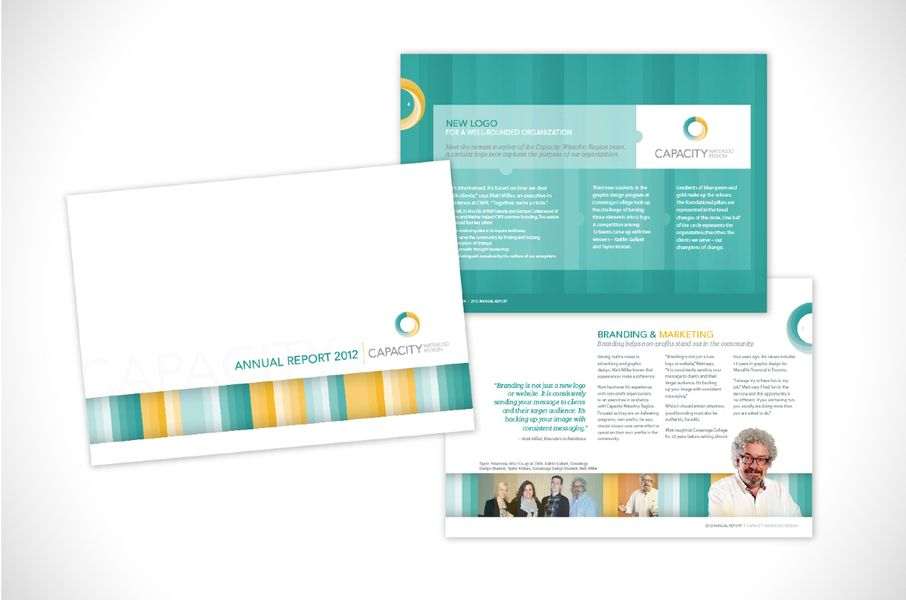 Capacity Waterloo Region 2012 Annual Report #design #print #booklet #blonde #marketing #advertising #business