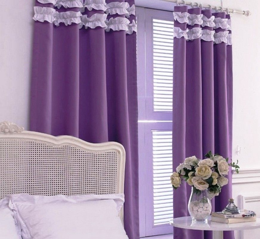 Purple Bedroom Curtain Ideas Nice Design