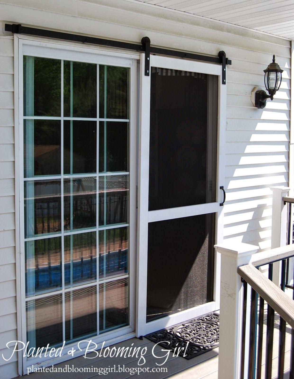 How to add a barn track sliding screen door diy screen