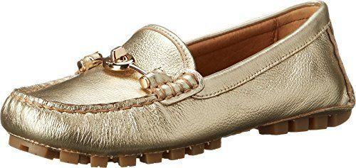Womens Shoes COACH Arlene Platinum Metallic Driver