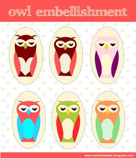 free scrapbooking embellishment owls and free scrap owls – Eulen Verzierungen für Scrapper und Bastler – Freebies   MeinLilaPark – digital freebies