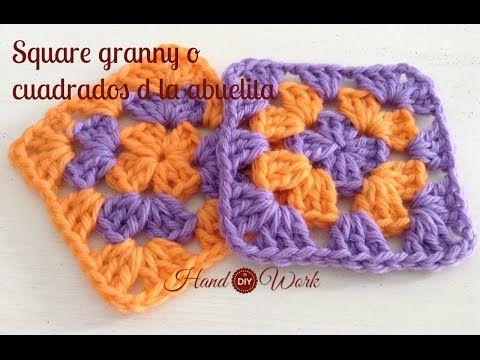Motivo o cuadrito margarita a crochet paso a paso ganchillo fácil ...