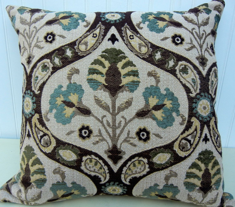 Beautiful Decorative Pillow Cover 20 X 20 Stroheim Throw Pillow Brown Blue Green Taupe 49 Beautiful
