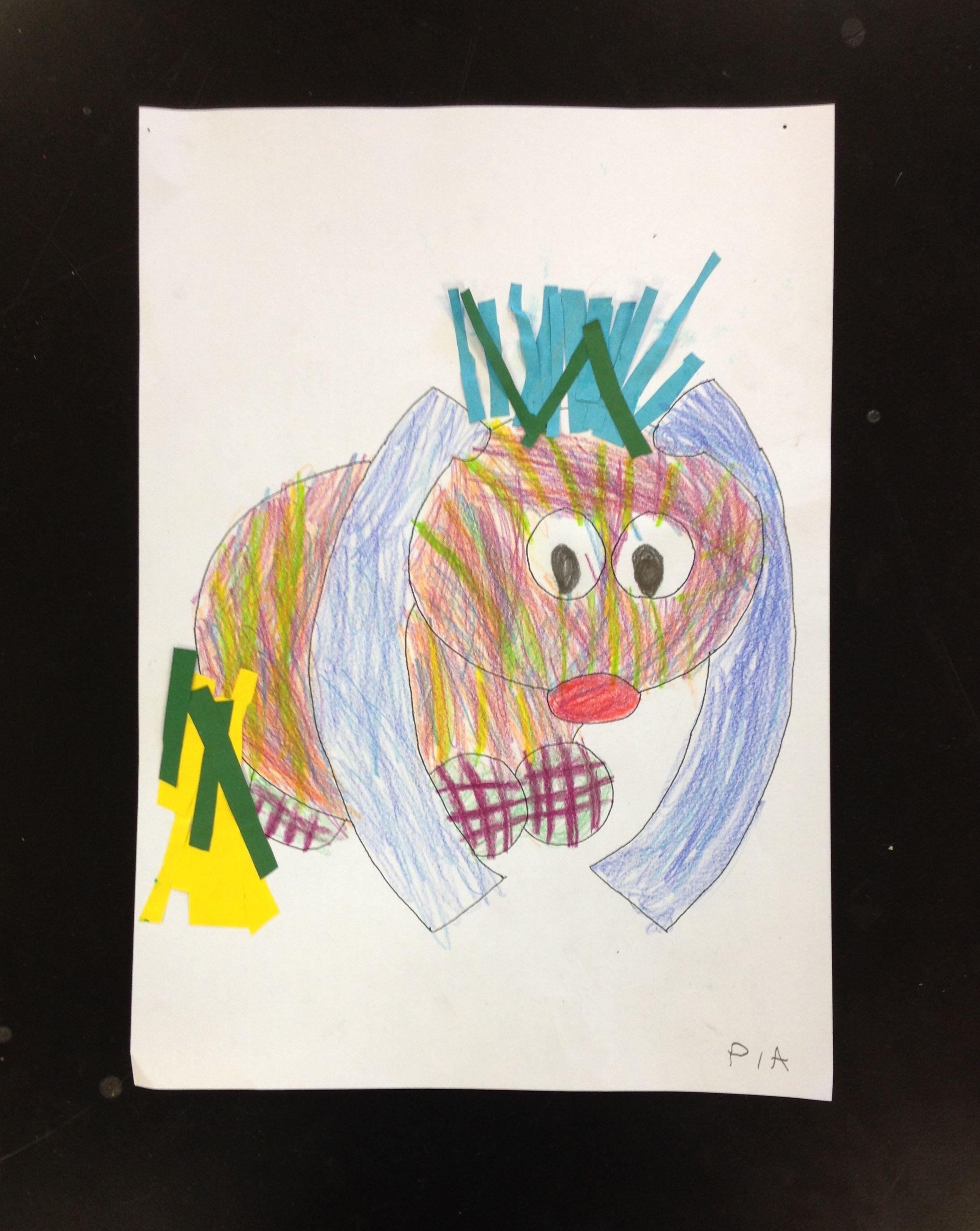 Das kleine Ich-bin-Ich freies Malen kreativ Kinder Idee