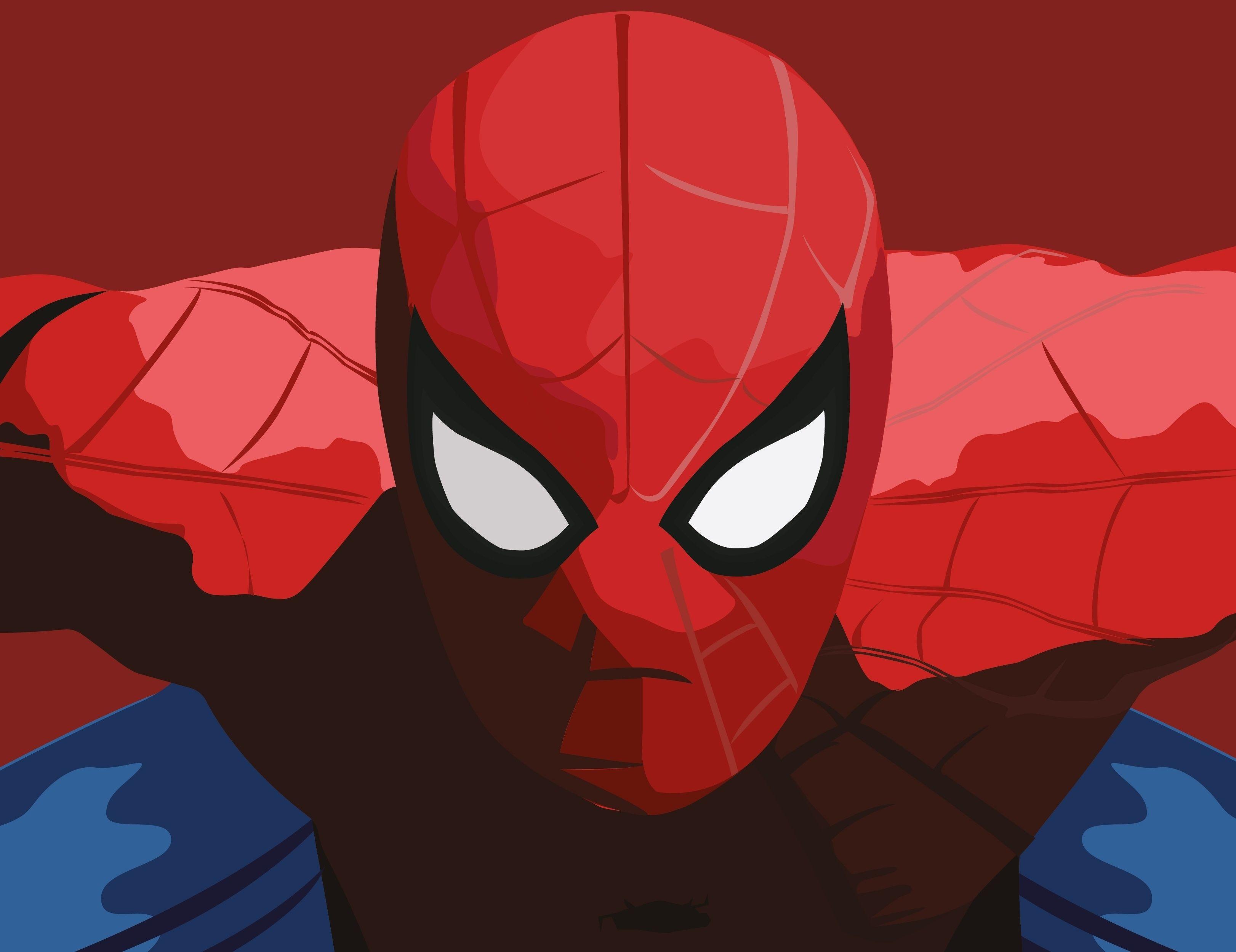 Downaload Spider Man Minimal Close Up Art Wallpaper 3244x2500 Spiderman Amazing Spiderman Marvel Images