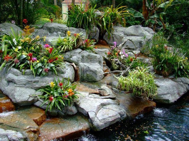 Garten gestalten wie Profis Beispiele Koi Teich Steine | Garten ...
