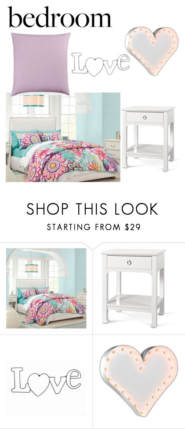 """""""My Bedroom"""" by abeerariaz ❤ liked on Polyvore featuring interior, interiors, interior design, home, home decor, interior decorating, PBteen, Bungalow 5, Vintage Marquee Lights and Bluebellgray"""