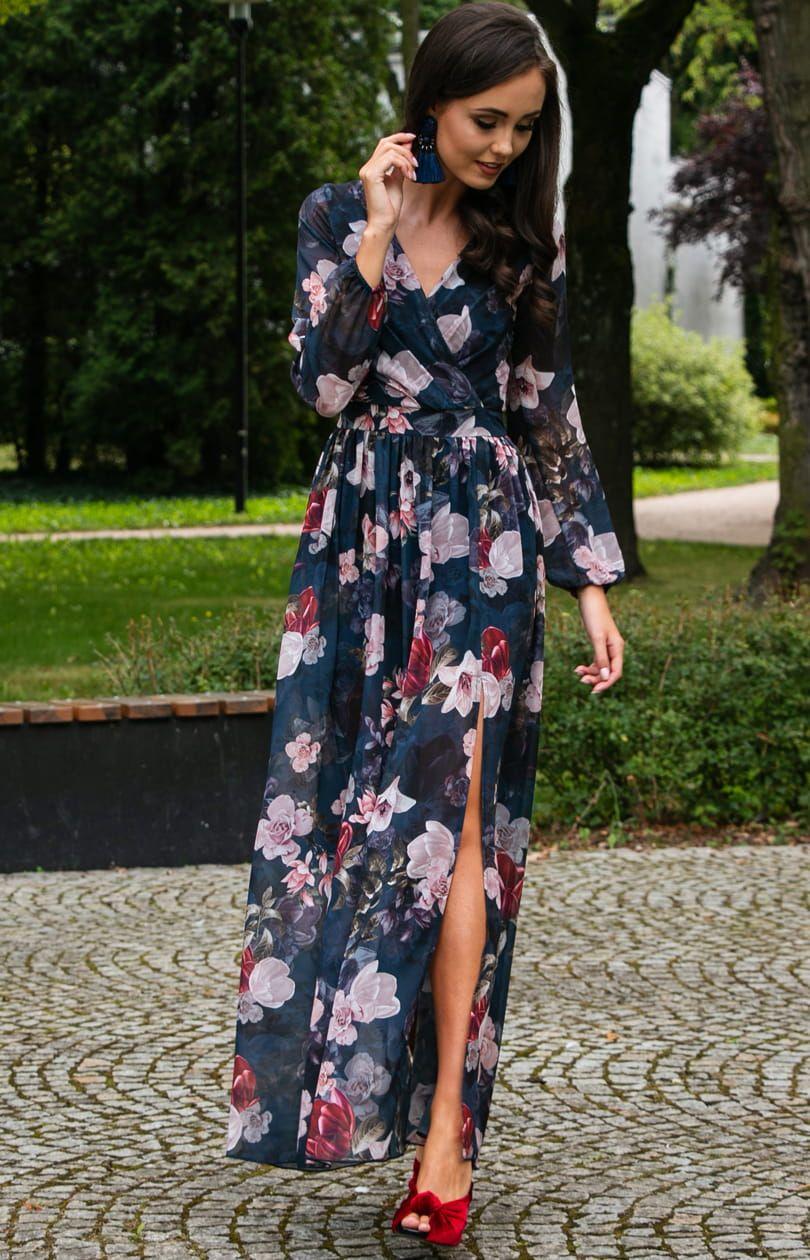 Dluga Sukienka W Kwiaty Roco 0219 D44 Maxi Dress Fashion Dresses