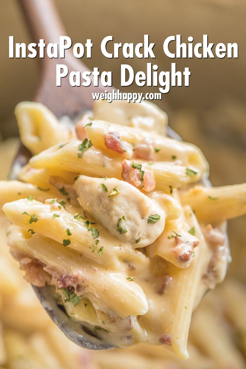 InstaPot Crack Chicken Pasta Delight Family Will Love - To Better Health