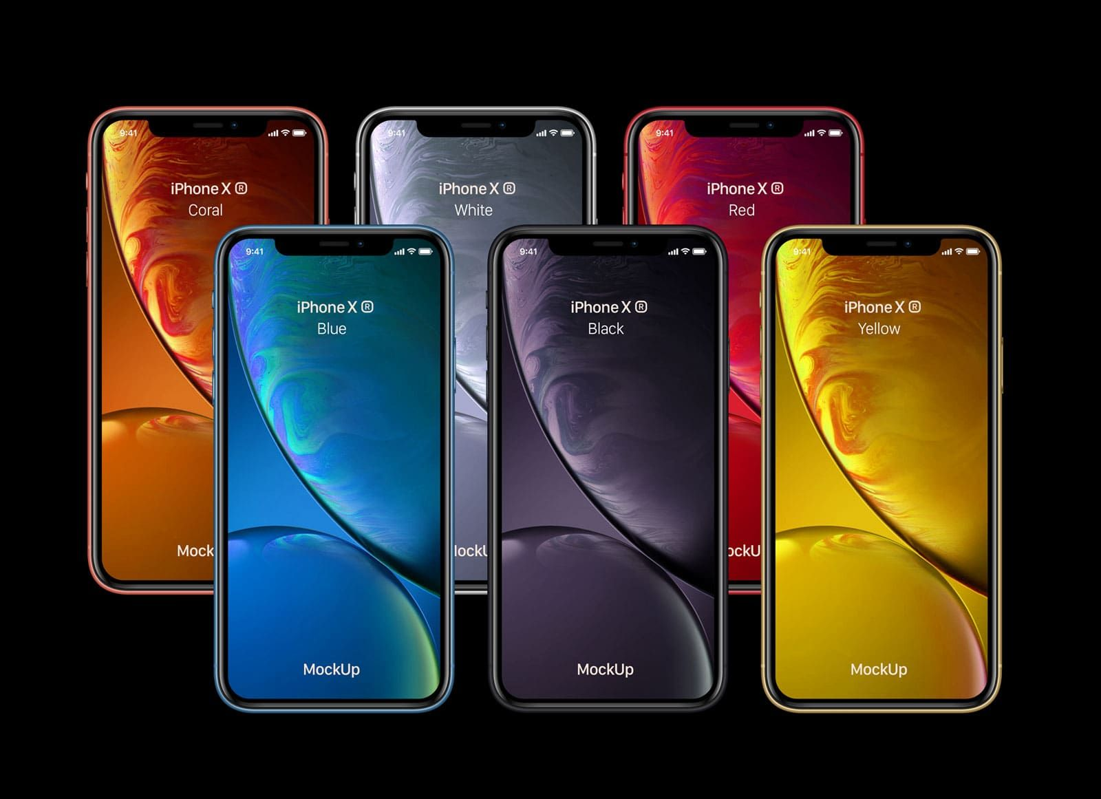 Free iPhone XR Yellow, White, Black, Red, Coral & Blue