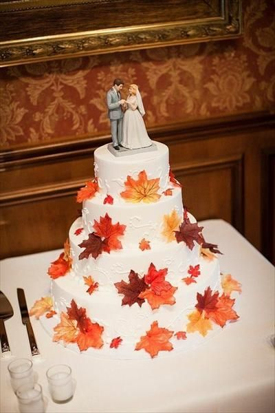 fall themed wedding cake toppers