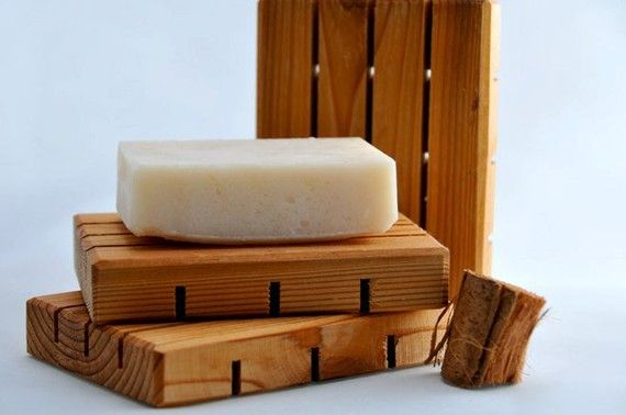 Wooden Shower Soap Dish