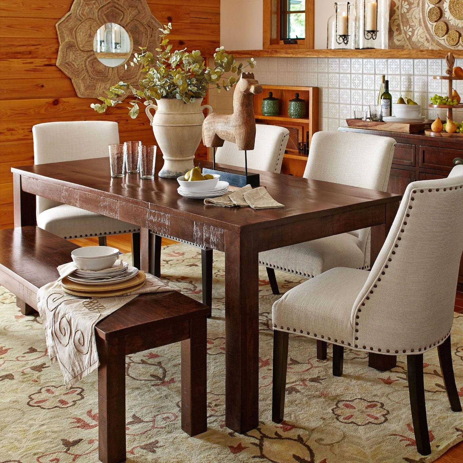 Parsons 76 Tobacco Brown Dining Table Avec Images Amenagement Interieur Decoration Petit Hotel