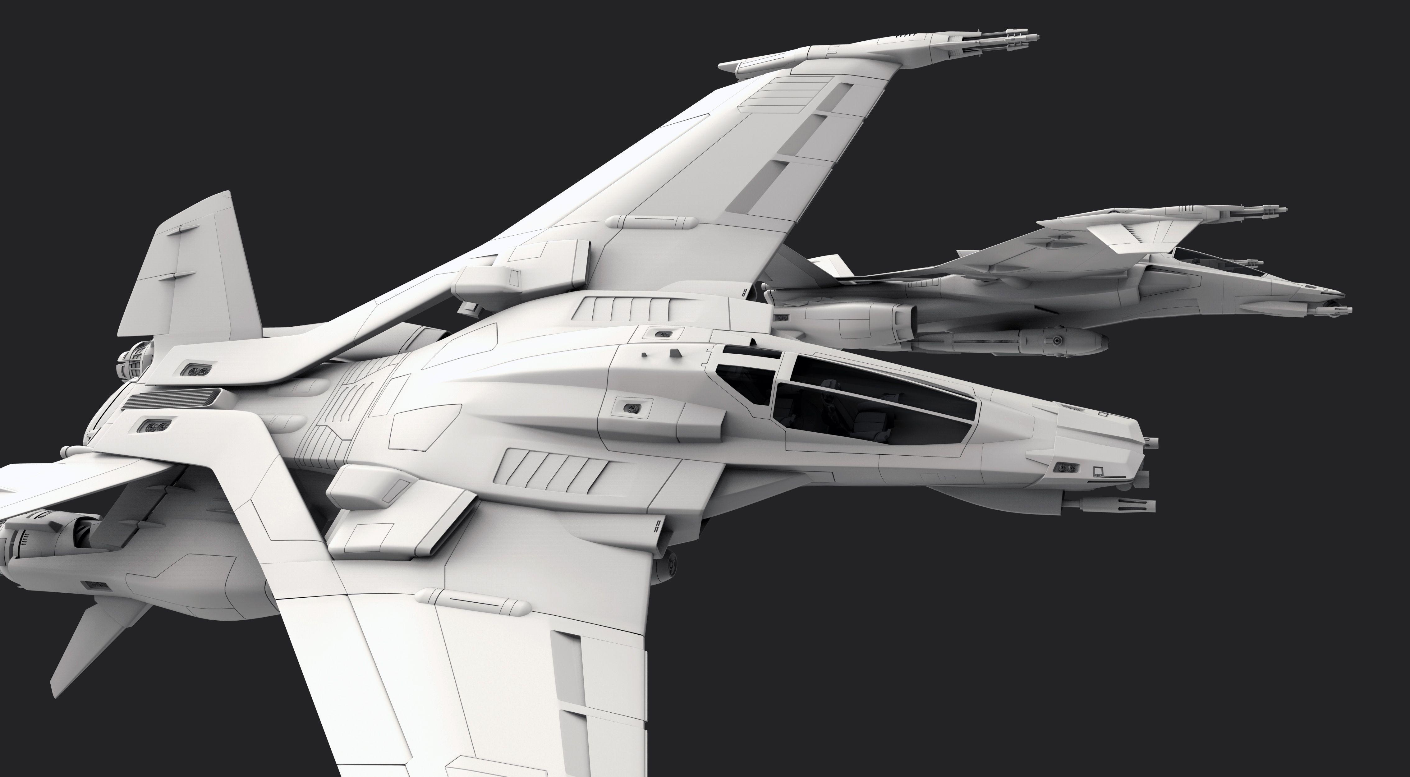 Cgtalk - Thrust Challenge Myrmidon Fighter 3d Landon L. Ephalanx Dessins