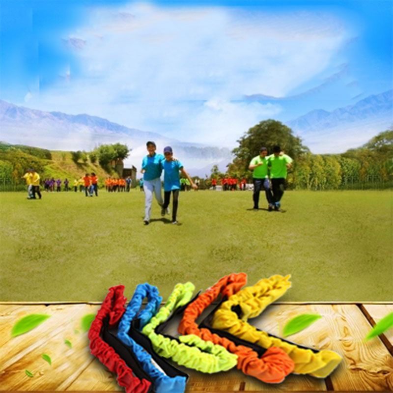 Children Two People Three-legged Ropes Tied To The Foot Running Race Sports Game Children Outdoor Toys Kid Cooperation Training Toys & Hobbies