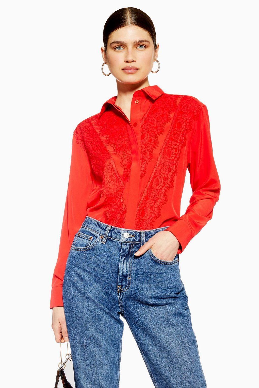028080a8e274bc Lace Shirt - Shirts & Blouses - Clothing - Topshop Europe