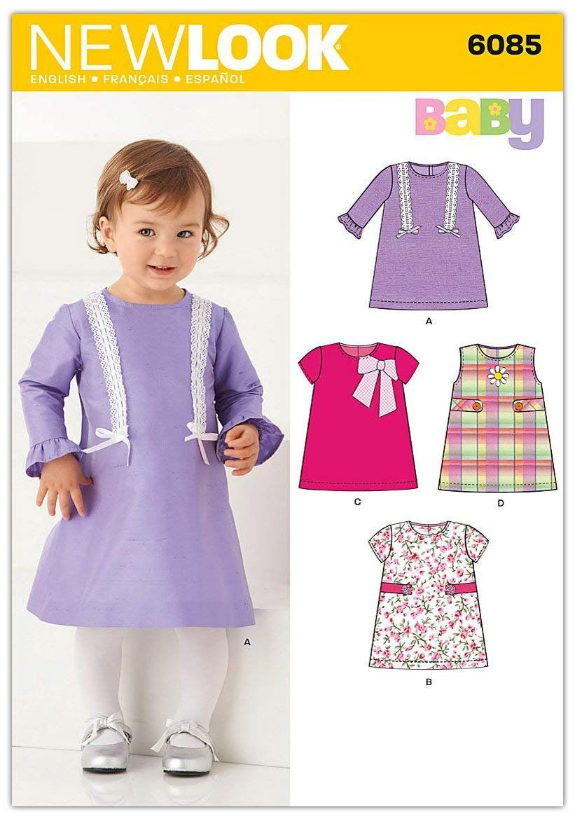 Infant\'s Dress with Sleeve Variations Childrens Sewing Pattern New ...