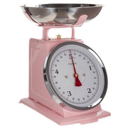 rosa kchenwaage im vintage look ab 4495 hier kaufen http - Kuechenwaage