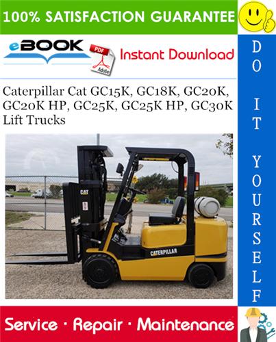 Caterpillar Cat GC15K, GC18K, GC20K, GC20K HP, GC25K