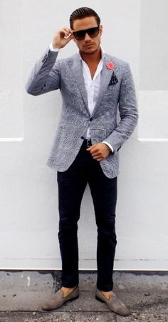 Images of Blazer Outfits Mens - Reikian