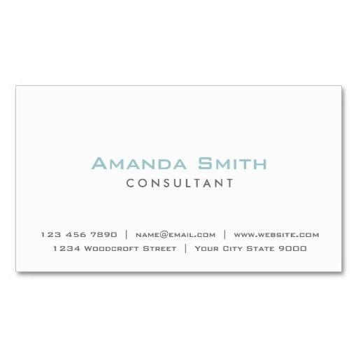 Elegant Professional Plain White Makeup Artist Business Card - Artist business card template