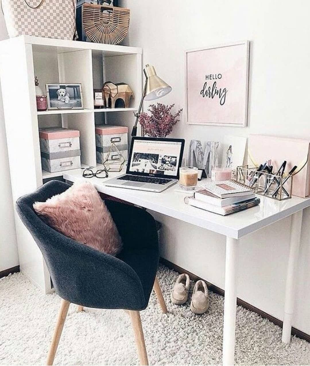 An Inspiring Space Is The Key To A Productive Day! #desklifebliss  #homeoffice #
