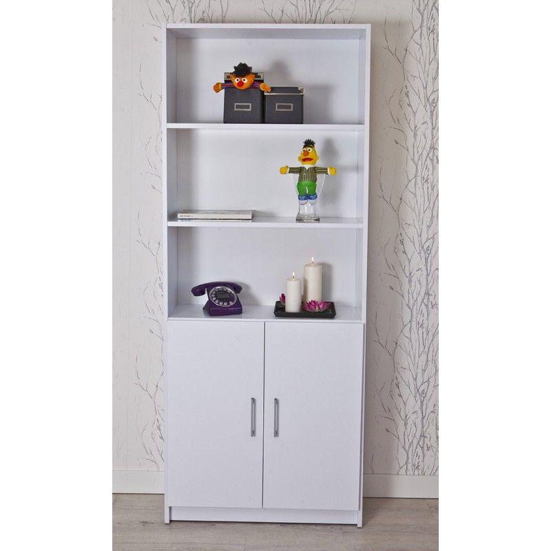 estantera ancha con puertas bajas ref8004 topkit muebles decoracion interiorismo - Estanterias Bajas
