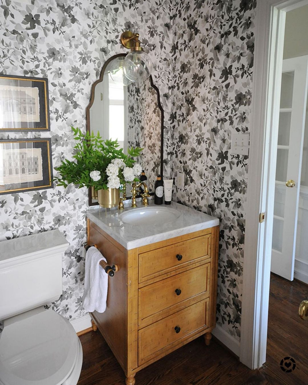Good Morning Today We Are Sharing All Of The Before And Afters From Our Wayfair1roomreno We Were So Excit Single Bathroom Vanity Bathroom Vanity Dear Lillie