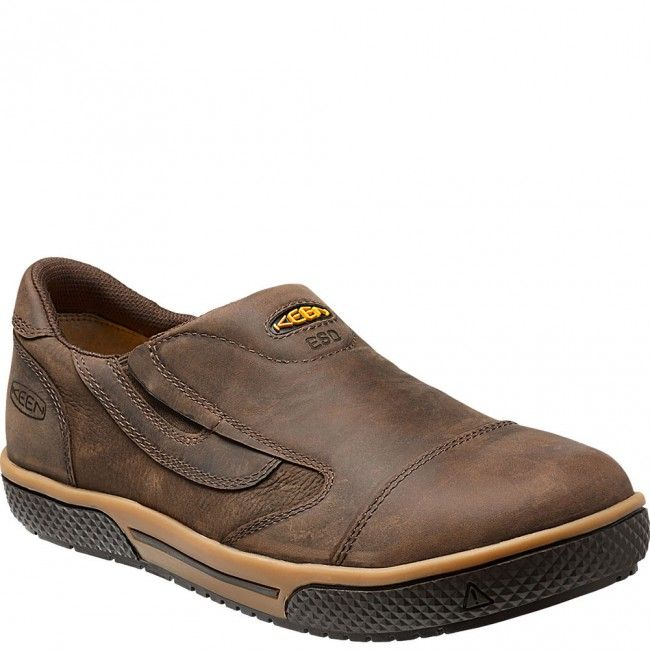 Destin Slip-On ESD Safety Shoes - Brown