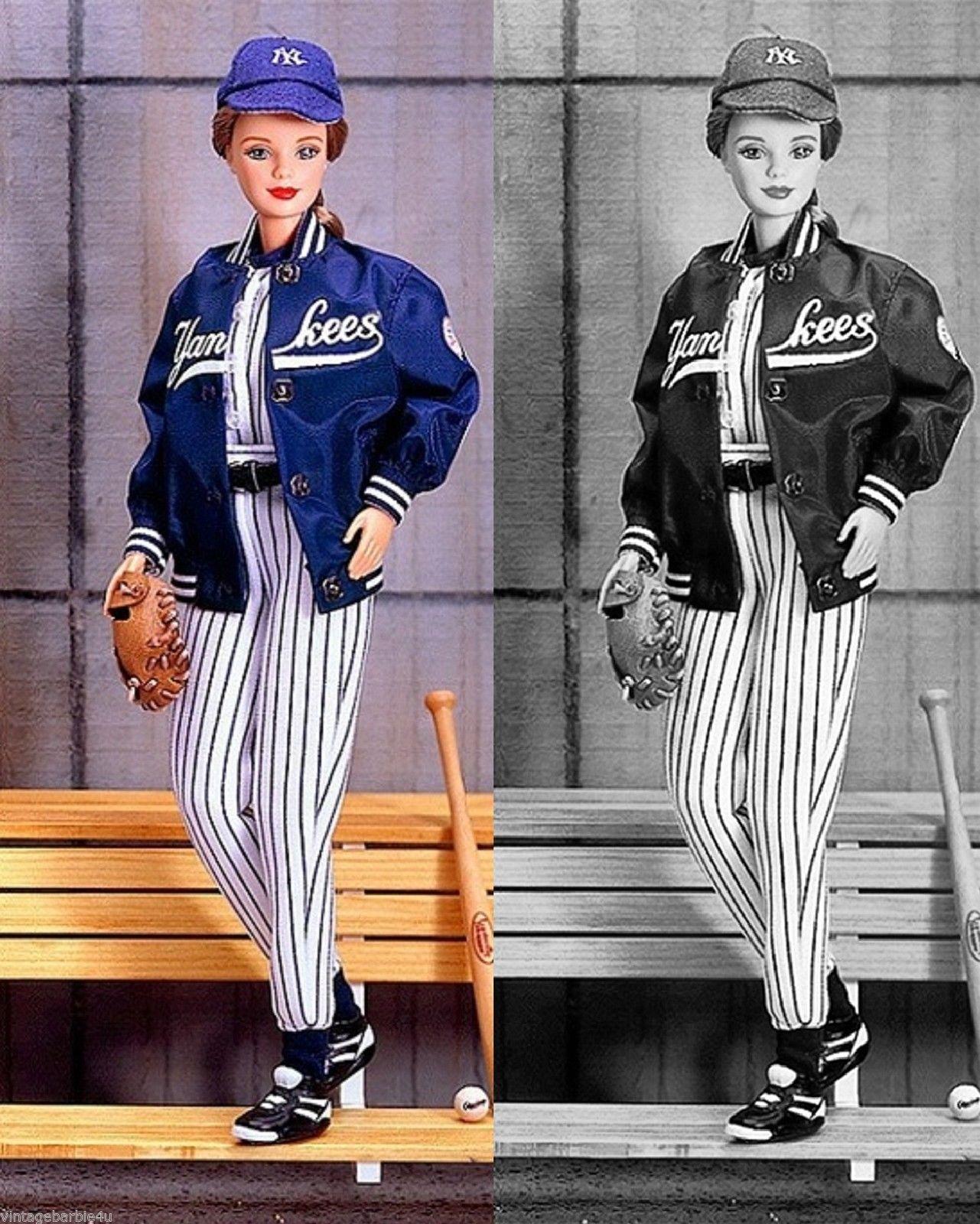 2d47d7eb082a8 NEW York Yankees MLB Barbie Doll Sport Series Louisville NEW Mint IN BOX  NRFB