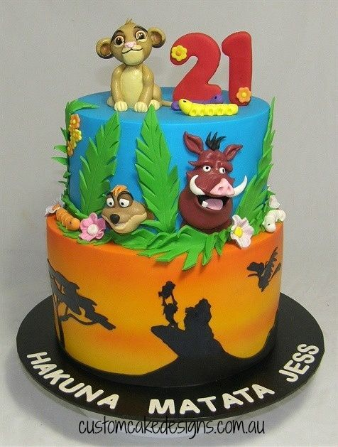 Lion King 21st Cake Lion King Cakes 21st Cake Beauty And The Beast Cake Birthdays