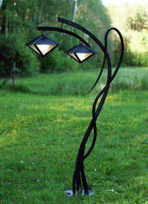 Art Nouveau Style Outdoor Lamp Garden Lamps Solar Landscape Lighting Lamp