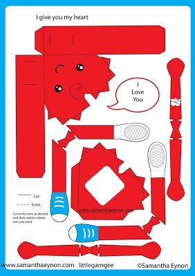corazón animado de papel | Bricolaje De Artesanía Casera | Pinterest
