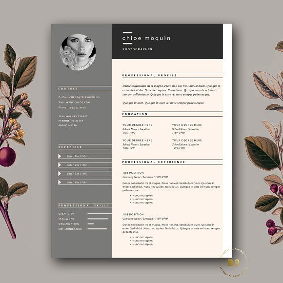 Creative Resume Design, Cover Letter Template, Cv template and