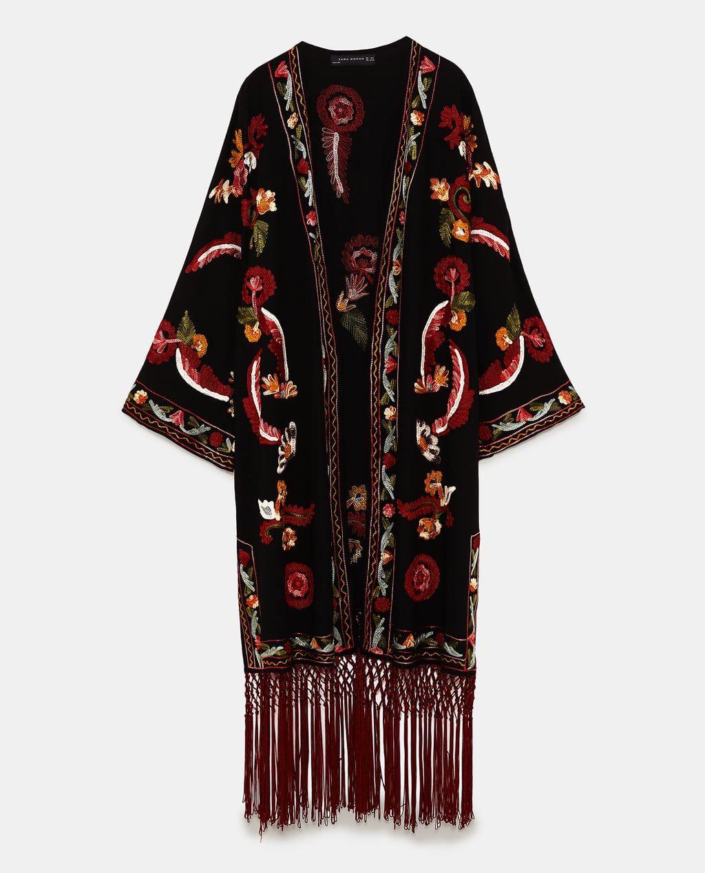 En Imagen 2019Kimonos Zara 8 De Kimono Bordado Flecos rCxeBdo