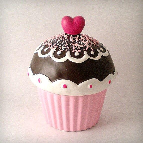 Ceramic Cupcake Candle Chocolate Valentine S Day