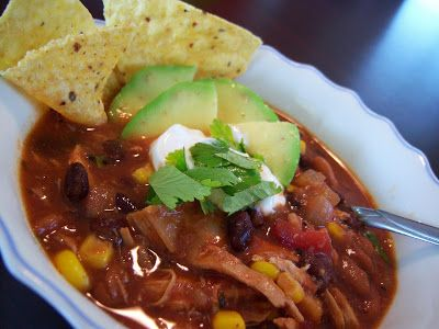 What A Dish!: Crockpot Chicken Taco Soup
