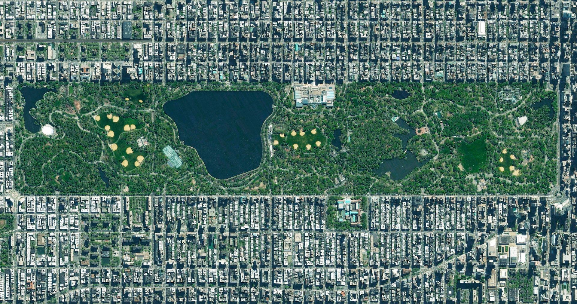 Central Park, New York City, USA Earth from space